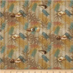 Tropical Dreams Ferns & Shells Beige
