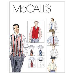 McCall's Men's Lined Vest, Shirt, Tie In Two