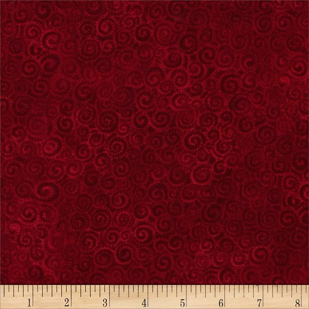 Laurel Burch Swirls Dark Red