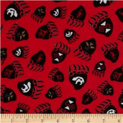 Kanvas Totem Flannel Bear Claw Red