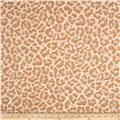 French Metallic Leopard Jacquard Creme/Ocre/Gold