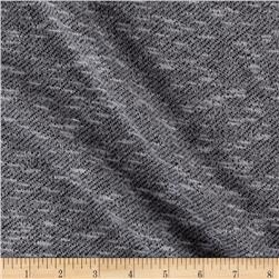 Marled French Terry Knit Gray