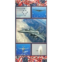 American Spirit Digital Print Air Show Red/White/Blue Fabric