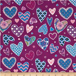 Haute Girls Hearts Black Fabric