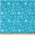 Riley Blake Dutch Treat Floral Blue