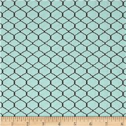 Bohemian Roosters Chicken Wire Blue