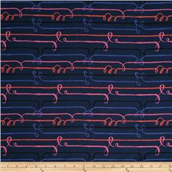 Cotton & Steel Honeymoon Rayon Challis Zipline Navy