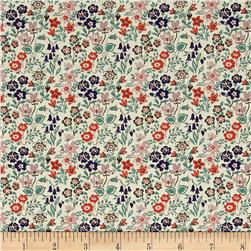 Liberty of London Tana Lawn Silver Bells Coral/Green/Blue