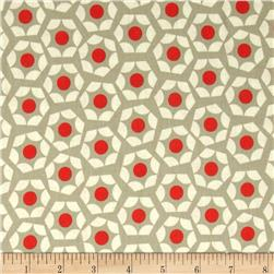 Cotton & Steel Moonlit Hexies Orange Fabric