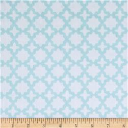Kaufman Little Prints Double Gauze Trellis Sky