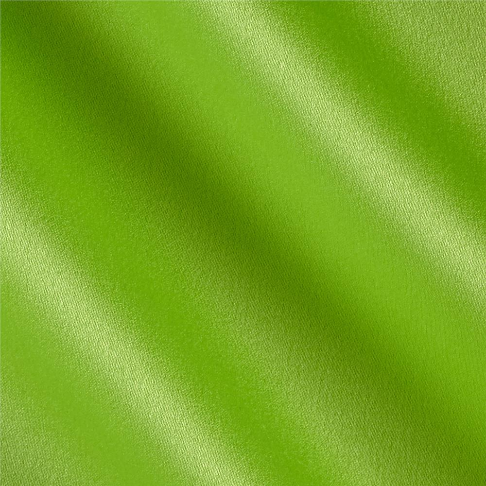 Crepe Back Satin Solid Key Lime