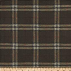 Fleece Tan Plaid