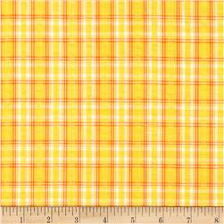 Kaufman Cape Cod Seersucker Plaid Yellow