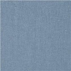 Designer Essentials Linen/Cotton Solid Blue