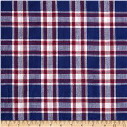 Hudson Bay Madras Plaid Blue