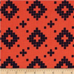 Cotton & Steel Mesa Tile Coral Fabric
