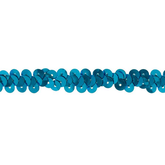 "3/8"" Stretch Metallic Sequin Trim Turquoise"