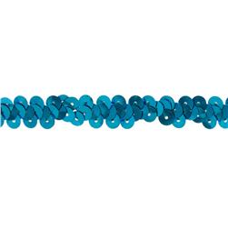 3/8'' Stretch Metallic Sequin Trim Turquoise