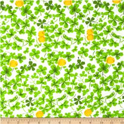 Heather Ross Briar Rose Cricket Clover Green/White
