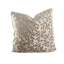 "18"" x 18"" Charleston Coral Throw Pillow Velvet Steel"