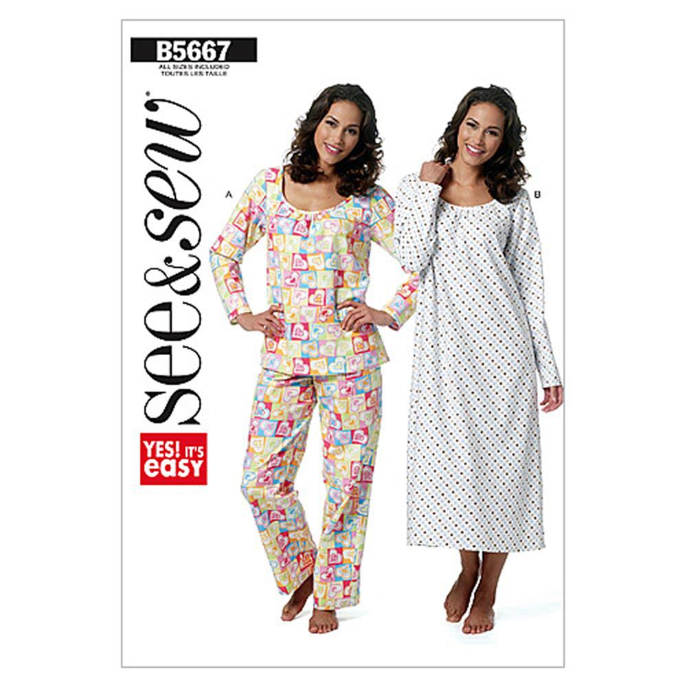 Butterick Misses' Top, Gown and Pants Pattern B5667
