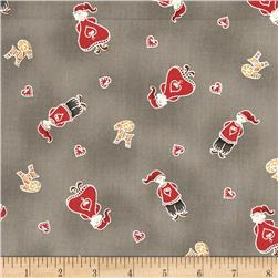 Lecien Yuletime Cozy Christmas Nisse Kids Taupe