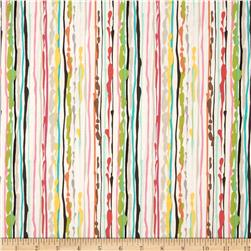 Michael Miller Paint Drop Cloth Stripe Sorbet Fabric