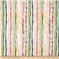 Michael Miller Paint Drop Cloth Stripe Sorbet