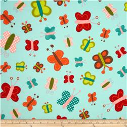 Daydream Girl Flannel Butterflies Adventure Fabric