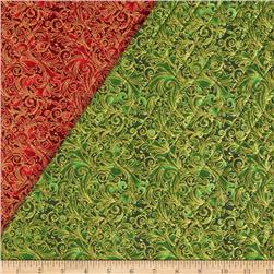 Christmas 2015 Double Sided Quilted Swirl Red
