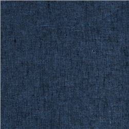 100% Pure Linen Teal Blue