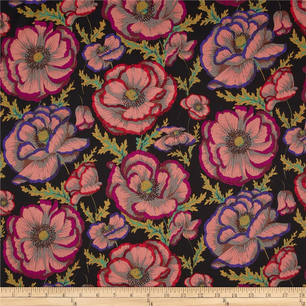 Kaffe Fassett Collective Banded Poppy Black