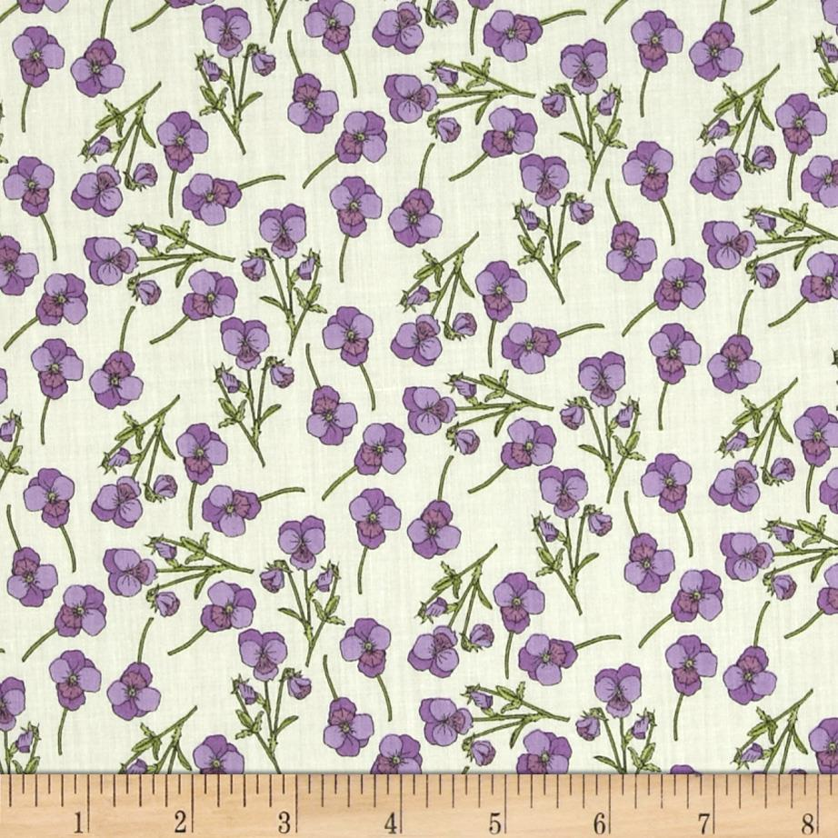 Liberty of London Tana Lawn Ros Lilac/Green