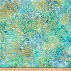 "106"" Wide Wilmington Batik Quilt Back Rippled Reflections Tropical Blue"