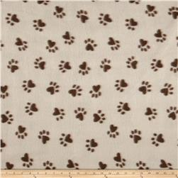 Printed Fleece Paws Brown