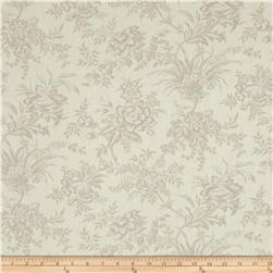 "Moda Snowberry Prints 108"" Quilt Back Floral Toile Snow"