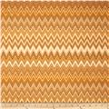 Winter's Grandeur Metallic Chevron Gold