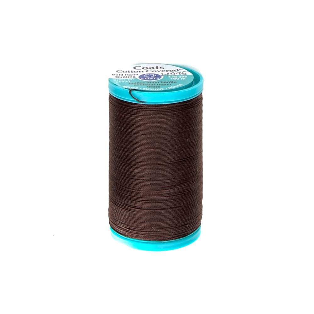 Coats & Clark Covered Cotton Bold Hand Quilting Thread Chona Brown