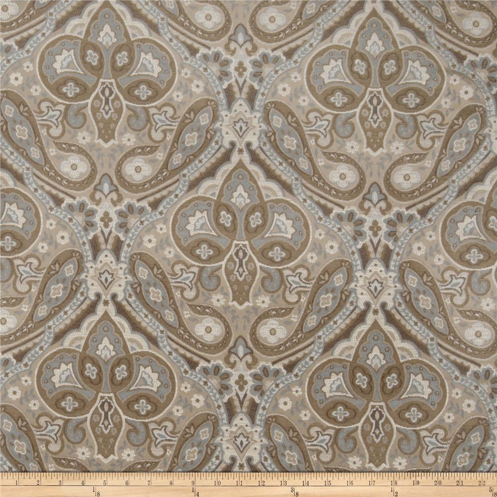 Jaclyn Smith 02102 Paisley Tapestry Jacquard Lagoon