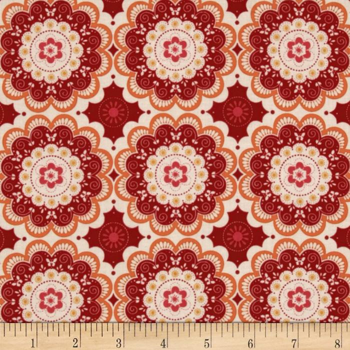 Riley Blake Flutter Doily Red