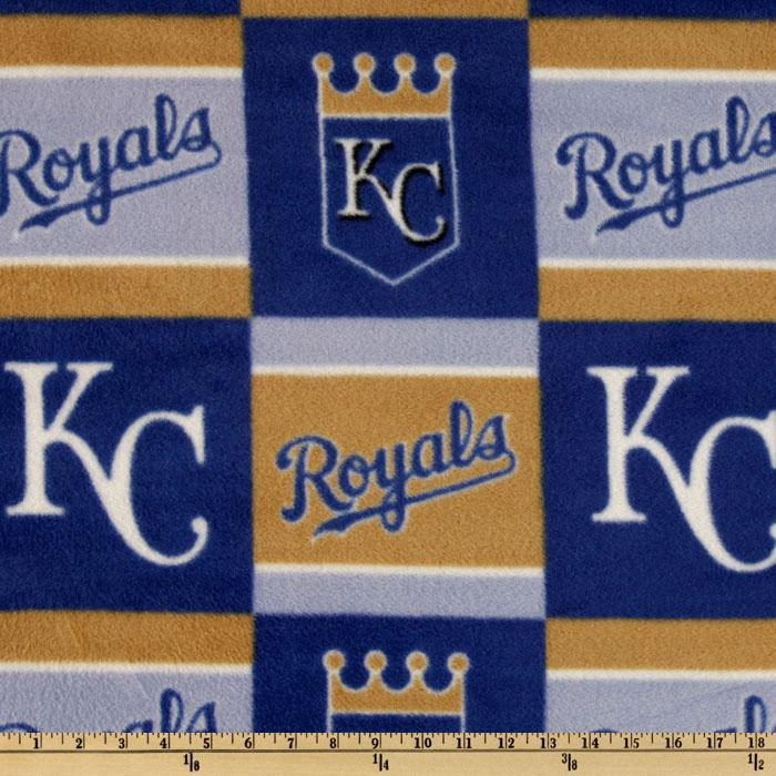 MLB Fleece Kansas City Royals Blocks Taupe/Royal