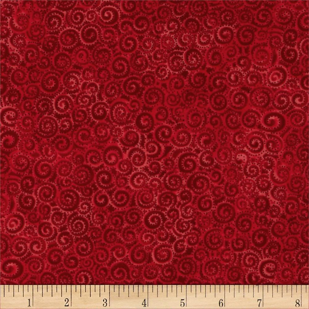 Laurel Burch Swirls Red