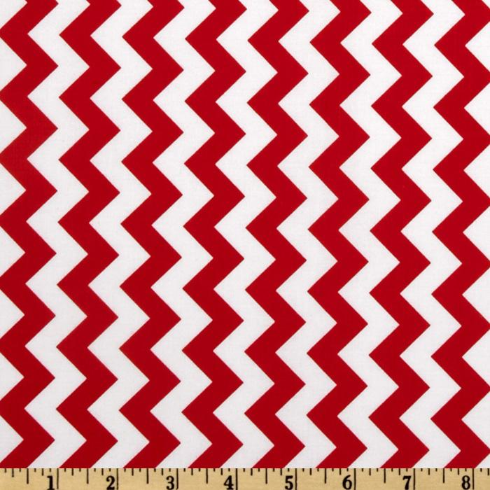 Riley Blake Chevron Small  Red