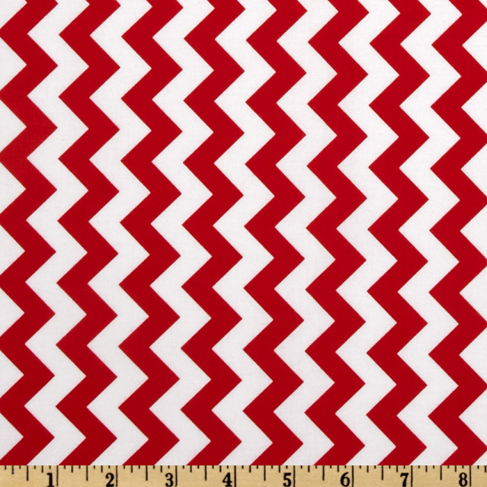 Riley Blake Chevron Small Red Fabric