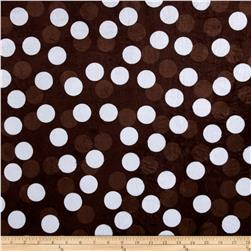 Minky Polka Brown/White/Brown