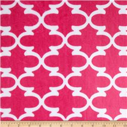 Premier Prints Minky Cuddle Lattice Fuchsia/Snow Fabric