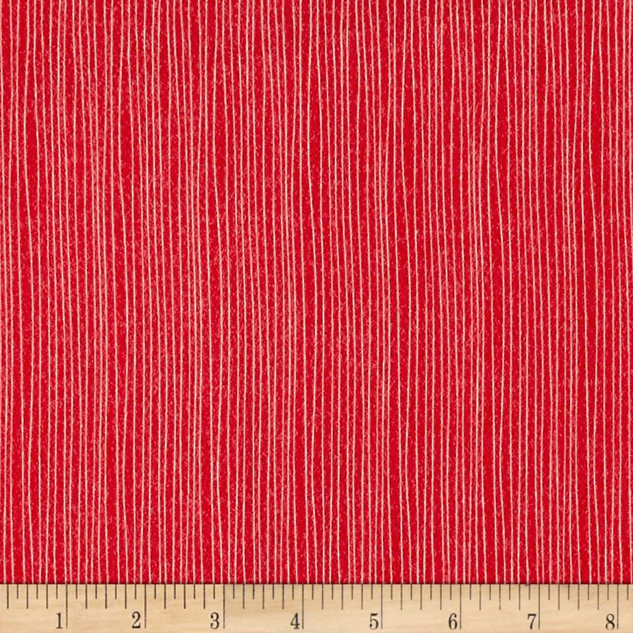 Moda Red Dot Green Dash Brushed Cottons Holiday Stripe Poinsettia Red