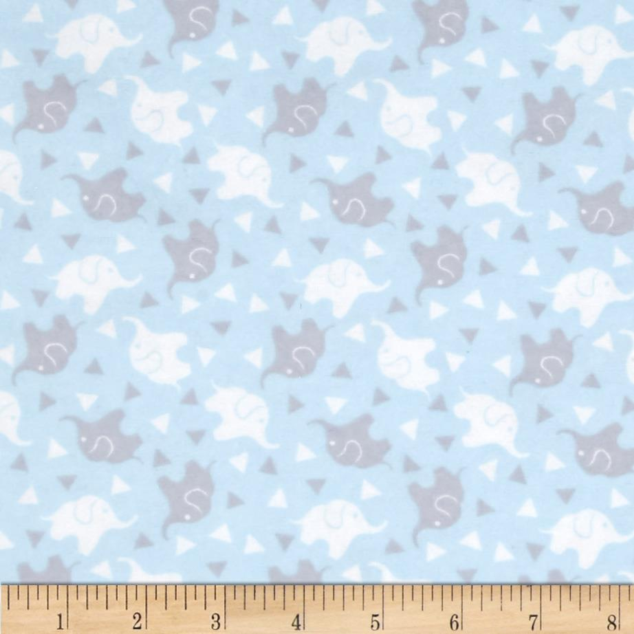 Flannelland Elephant Confetti Blue/Grey