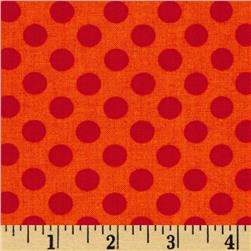 Kaufman Spot On Medium Dot Tangerine