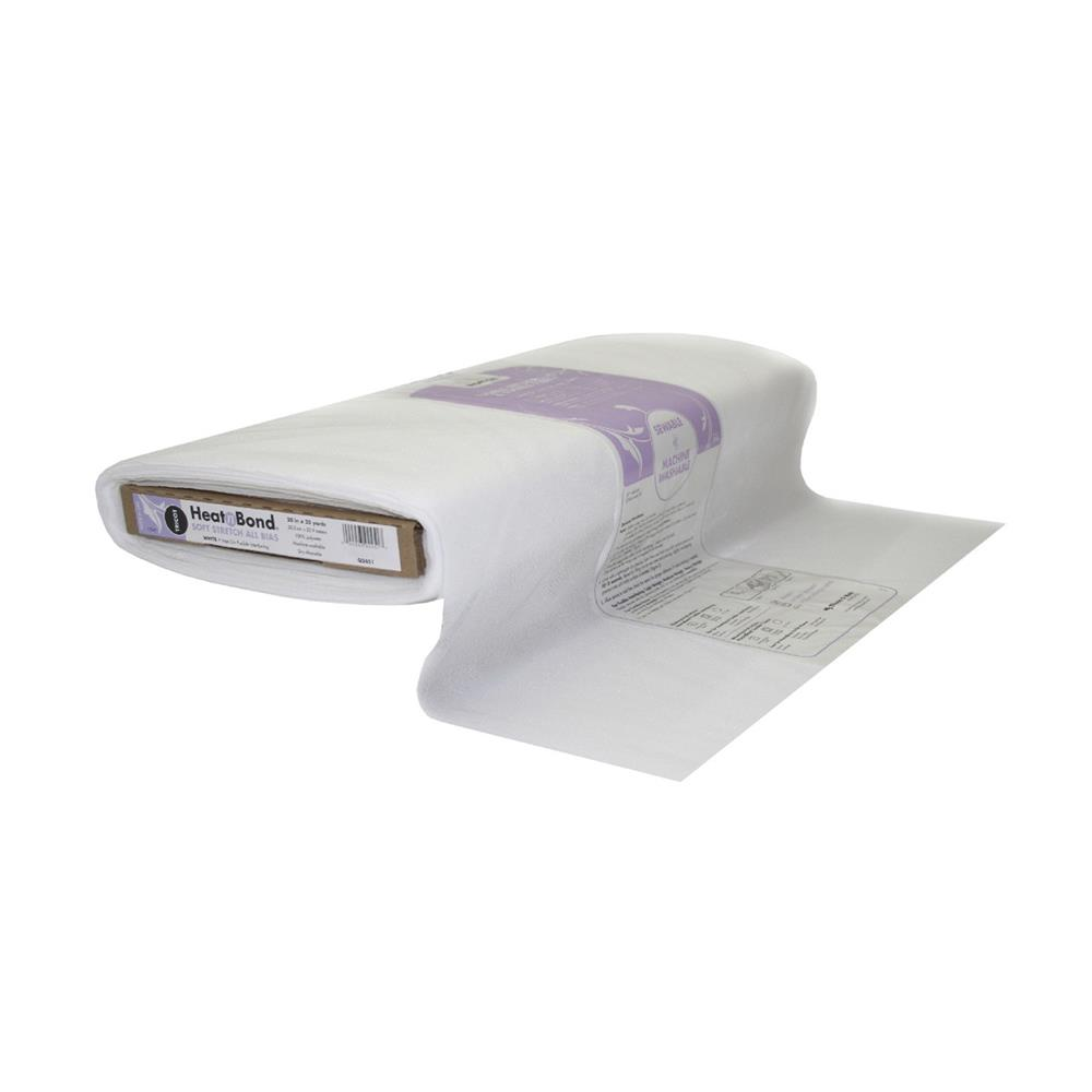 Heat'n Bond Q2451 Tricot Fusible - Soft Stretch All Bias White 20""
